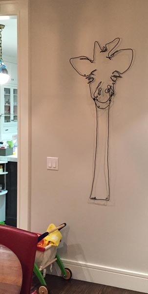 giraffe wire art