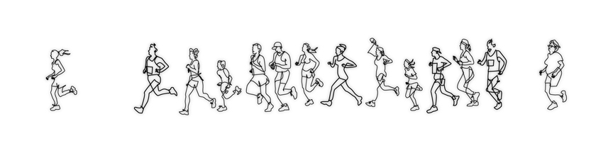 Wire wall art of runners